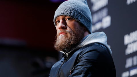 "<p>               Conor McGregor speaks during a media event for the UFC 246 mixed martial arts bout, Thursday, Jan. 16, 2020, in Las Vegas. McGregor is scheduled to fight Donald ""Cowboy"" Cerrone in a welterweight bout Saturday in Las Vegas. (AP Photo/John Locher)             </p>"