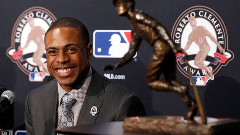 <p>               FILE - In this Oct. 28, 2016, file photo, New York Mets' Curtis Granderson smiles at a news conference as he receives the 2016 MLB Roberto Clemente Award before Game 3 of the Major League Baseball World Series in Chicago. The three-time All-Star outfielder, who played for seven teams, announced his retirement Friday, Jan 31, 2020, after 16 seasons in the major leagues. (AP Photo/Charles Rex Arbogast, File)             </p>