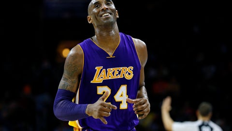 <p>               In this Dec. 1, 2015 file photo Los Angeles Lakers' Kobe Bryant smiles as he jogs to the bench during the first half of an NBA basketball game against the Philadelphia 76ers in Philadelphia. The Retired NBA superstar has died in helicopter crash in Southern California, Sunday, Jan. 26, 2020. (AP Photo/Matt Slocum)             </p>