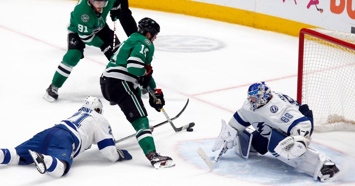 Benn's 2nd goal in OT pushes Dallas Stars past Lightning 3-2 | FOX Sports