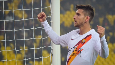 <p>               Roma's Lorenzo Pellegrini celebrates after scoring his side's first goal of the game during an Italian Cup soccer match between Parma and Roma at the Tardini Stadium, in Parma, Italy, Thursday, Jan. 16, 2020. (Fabio Rossi/Lapresse via AP)             </p>