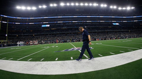 <p>               Dallas Cowboys head coach Jason Garrett walks the sideline during the second half of an NFL football game against the Washington Redskins in Arlington, Texas, Sunday, Dec. 15, 2019. (AP Photo/Ron Jenkins)             </p>