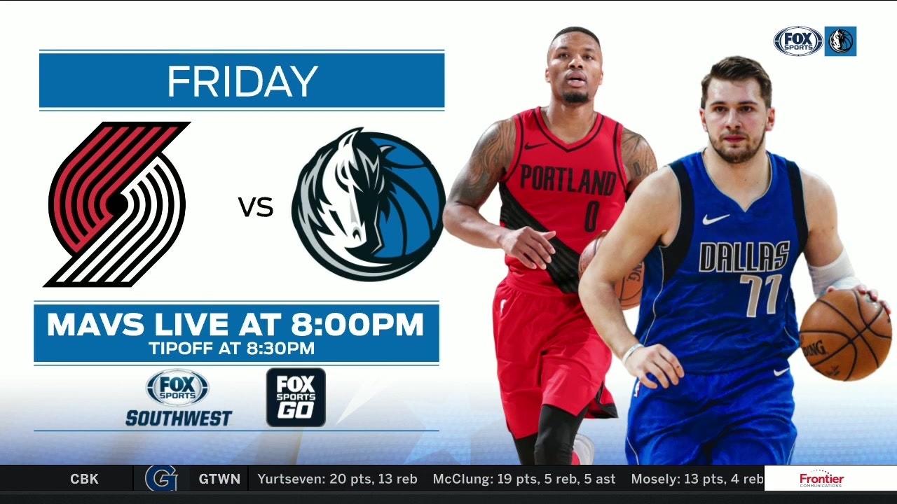 Look Ahead Mavericks Vs Trail Blazers Mavs Live Fox Sports