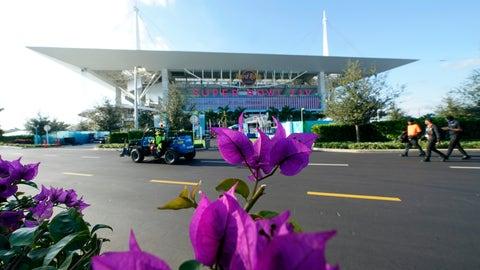 <p>               Hard Rock Stadium is shown Thursday, Jan. 30, 2020, in Miami Gardens, Fla., in preparation for the NFL Super Bowl 54 football game. (AP Photo/David J. Phillip)             </p>