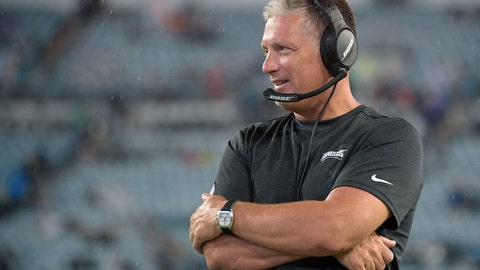 <p>               FILE - In this Aug. 15, 2019, file photo, Philadelphia Eagles defensive coordinator Jim Schwartz watches from the sideline during the second half of an NFL preseason football game against the Jacksonville Jaguars, in Jacksonville, Fla. Eagles defensive coordinator Jim Schwartz, who had a five-season run as Detroit's coach, is interviewing Wednesday, Jan. 8, 2020, with the Cleveland Browns. Schwartz is the sixth candidate to meet with the Browns, who are once again looking for a coach after another disappointing, losing season.(AP Photo/Phelan M. Ebenhack, File)             </p>