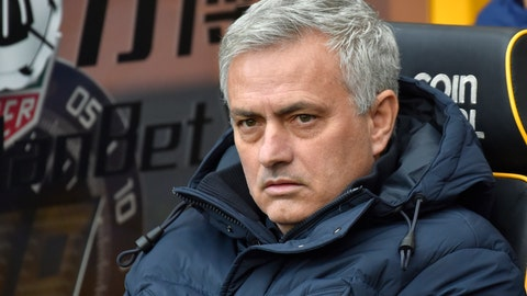 <p>               Tottenham's manager Jose Mourinho waits for the start of the English Premier League soccer match between Wolverhampton Wanderers and Tottenham Hotspur at the Molineux Stadium in Wolverhampton, England, Sunday, Dec. 15, 2019. (AP Photo/Rui Vieira)             </p>