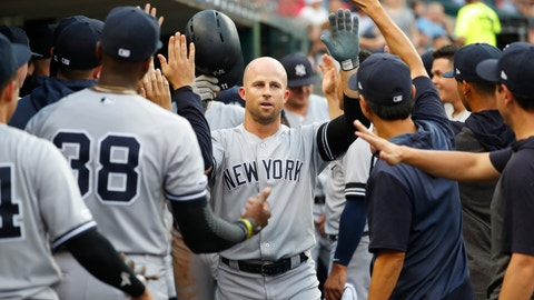 <p>               FILE - In this Sept. 10, 2019, file photo, New York Yankees' Brett Gardner celebrates his solo home run in the second inning of a baseball game against the Detroit Tigers, in Detroit. Outfielder Brett Gardner is staying with the New York Yankees after the best offensive season of his career, agreeing to a one-year contract that guarantees $12.5 million, a person familiar with the negotiations told The Associated Press. The person spoke on condition of anonymity Thursday, Dec. 12, 2019, because  the agreement had not be announced. (AP Photo/Paul Sancya, File)             </p>