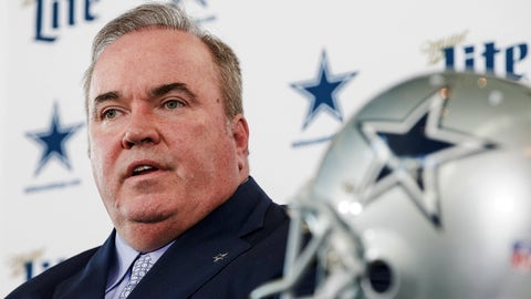 <p>               New Dallas Cowboys head coach Mike McCarthy is introduced during a press conference at the Dallas Cowboys headquarters Wednesday, Jan. 8, 2020, in Frisco, Texas. (AP Photo/Brandon Wade)             </p>