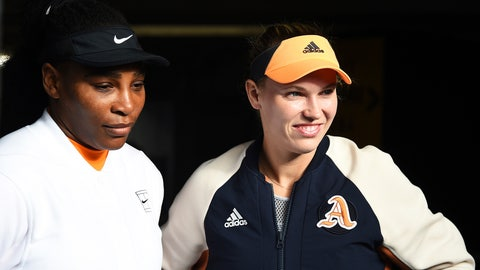 <p>               Denmark's Caroline Wozniacki, right, and Untied States Serena Williams wait to enter onto Centre Court for their quarter finals doubles match against Untied States Caroline Dolehide and Sweden's Johanna Larsson at the ASB Classic in Auckland, New Zealand, Wednesday, Jan 8, 2020. (Chris Symes/Photosport via AP)             </p>