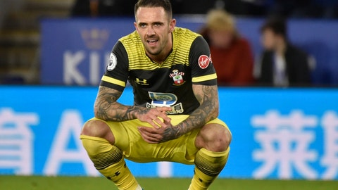 <p>               Southampton's Danny Ings reacts after missing a chance to score during the English Premier League soccer match between Leicester City and Southampton at the King Power stadium in Leicester, England Saturday, Jan. 11, 2020. (AP Photo/Rui Vieira)             </p>