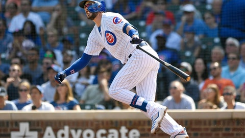 <p>               FILE - In this Sept. 15, 2019, file photo, Chicago Cubs' Kris Bryant watches his three-run home run during the first inning of a baseball game against the Pittsburgh Pirates in Chicago. Bryant avoided arbitration with the Cubs, agreeing Friday, Jan. 10, 2010, to an $18.6 million, one-year contract, a person familiar with the situation told The Associated Press. The person spoke on the condition of anonymity because the deal had not been announced. (AP Photo/Paul Beaty, File)             </p>