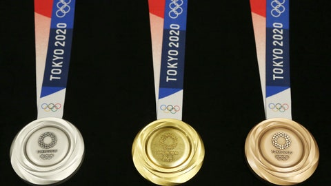 <p>               FILE - In this  July 24, 2019, file photo, Tokyo 2020 Olympic medals are unveiled during a One Year to Go Olympic ceremony event in Tokyo. The Tokyo Olympics open exactly six months from Friday, Jan. 24, 2020 and the United States and China are picked to finish 1-2 in the overall medal count and the gold-medal count. That's the easy part in a forecast done by Gracenote Sports about which countries will win the most Olympic medals. Gracenote supplies analysis for leagues around the world and has a solid track record forecasting recent Olympics. (AP Photo/Koji Sasahara, File)             </p>