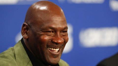 <p>               Former basketball superstar Michael Jordan speaks during a press conference ahead of NBA basketball game between Charlotte Hornets and Milwaukee Bucks in Paris, Friday, Jan. 24, 2020. (AP Photo/Thibault Camus))             </p>