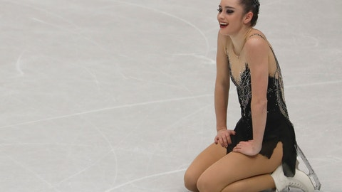 <p>               FILE- In this March 23, 2018, file photo, Kaetlyn Osmond, of Canada, reacts after completing her women's free skating program at the Figure Skating World Championships in Assago, near Milan, Italy. For the better part of two decades, Osmond knew exactly what she'd be doing every day. Her world revolved around figure skating. She retired last May and hasn't competed since winning gold at the 2018 world championships. And while she's at peace with her decision, the months since haven't been all that smooth. (AP Photo/Luca Bruno, File)             </p>
