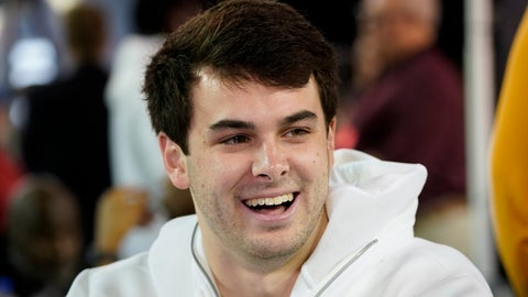 <p>               Clemson safety Nolan Turner is interviewed during media day for NCAA College Football Playoff national championship game Saturday, Jan. 11, 2020, in New Orleans. Clemson is scheduled to play LSU on Monday. (AP Photo/David J. Phillip).             </p>