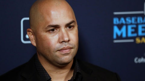 <p>               New York Mets manager Carlos Beltran listens to a question during the Major League Baseball winter meetings, Tuesday, Dec. 10, 2019, in San Diego. (AP Photo/Gregory Bull)             </p>
