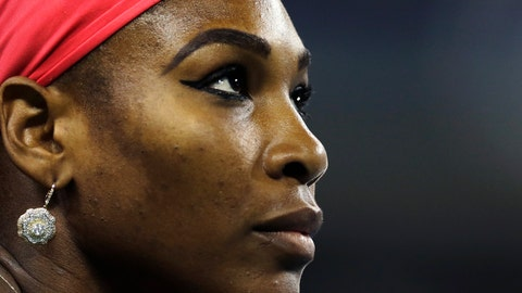 <p>               File-This Aug. 23, 2013, file photo shows Serena Williams, of the United States, looking up at the scoreboard during her match against Francesca Schiavone, of Italy, in the first round of the 2013 U.S. Open tennis tournament in New York. Williams has been voted the AP Female Athlete of the Decade for 2010 to 2019. Williams won 12 of her professional-era record 23 Grand Slam singles titles over the past 10 years. No other woman won more than three in that span. She also tied a record for most consecutive weeks ranked No. 1 and collected a tour-leading 37 titles in all during the decade. Gymnast Simone Biles finished second in the vote by AP member sports editors and AP beat writers. Swimmer Katie Ledecky was third, followed by ski racers Lindsey Vonn and Mikaela Shiffrin. (AP Photo/Charles Krupa, File)             </p>