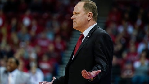 <p>               Wisconsin head coach Greg Gard reacts to a call during the second half of the team's NCAA college basketball game against Illinois on Wednesday, Jan. 8, 2020, in Madison, Wis. Illinois won 71-70. (AP Photo/Andy Manis)             </p>