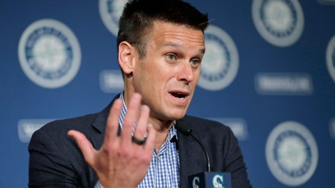 <p>               Seattle Mariners general manager Jerry Dipoto speaks Thursday, Jan. 23, 2020, in Seattle during the Seattle Mariners annual news conference before the start of Spring Training baseball. (AP Photo/Ted S. Warren)             </p>