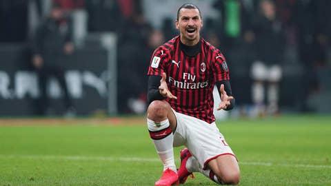 <p>               AC Milan's Zlatan Ibrahimovic reacts during the Italian Cup, quarterfinal soccer match between AC Milan and Torino at the Milan San Siro Stadium, Tuesday, Jan. 28, 2020.  (Spada/Lapresse via AP)             </p>