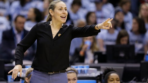 <p>               FILE - In this April 4, 2016, file photo, Tufts head coach Carla Berube directs her team as they play Thomas More during the first half of the championship game at the women's NCAA Division III basketball tournament in Indianapolis. Princeton coach Berube knew she inherited a really good team when she took over the Tigers this year after Courtney Banghart left to coach North Carolina.(AP Photo/Michael Conroy, File)             </p>