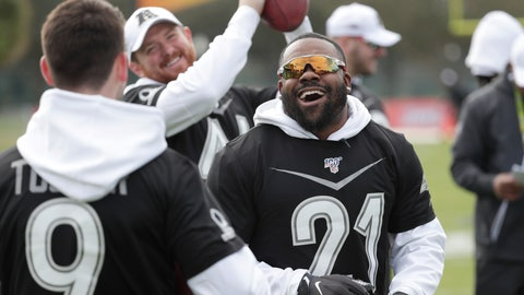 <p>               Baltimore Ravens kicker Justin Tucker (9), long snapper Morgan Cox, center, and running back Mark Ingram joke around during an NFC practice for the NFL Pro Bowl football game Wednesday, Jan. 22, 2020, in Kissimmee, Fla. (AP Photo/John Raoux)             </p>