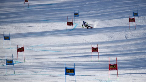 <p>               United States' Mikaela Shiffrin competes during an alpine ski, World Cup women's giant slalom in Sestriere, Italy, Saturday, Jan. 18, 2020. (AP Photo/Marco Trovati)             </p>