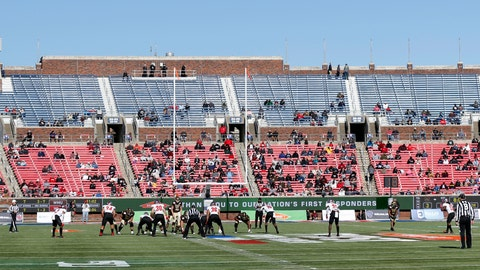 <p>               FILE- This Dec. 30, 2019, file photo shows empty seats as Western Kentucky and Western Michigan line up for the snap during the second half of the NCAA First Responder Bowl college football game in Dallas. Bowls outside the College Football Playoff structure might excite only the most ardent fans of the participating teams, be played in half-empty stadiums and prompt howls about there being too many games. They aren't going away, though. There'll be three more next season, bringing the total number of bowls to 42. (AP Photo/Roger Steinman, File)             </p>