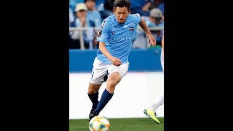 <p>               In this Nov. 24, 2019, photo, Yokohama FC's Kazuyoshi Miura controls the ball during J-2 league soccer match against Ehime FC in Yokohama, near Tokyo.  One of the longest careers in soccer has been extended after 52-year-old striker Miura signed a contract with J-League club Yokohama FC on Saturday, Jan. 11, 2020.  Miura, who will turn 53 on Feb. 26, will enter his 35th season this year.  (Kyodo News via AP)             </p>