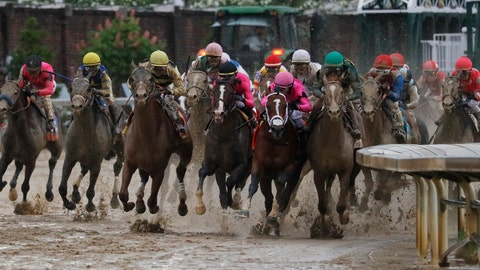 <p>               FILE - In this May 4, 2019, file photo, Luis Saez rides Maximum Security, second from right, during the 145th running of the Kentucky Derby horse race at Churchill Downs in Louisville, Ky. Country House was declared the winner after Maximum Security was disqualified following a review by race stewards. (AP Photo/John Minchillo, File)             </p>
