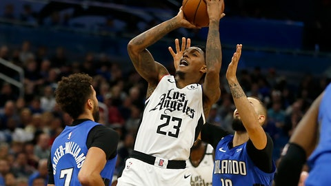 <p>               Los Angeles Clippers guard Lou Williams (23) shoots between Orlando Magic guards Evan Fournier (10) and Michael Carter-Williams (7) during the second quarter of an NBA basketball game in Orlando, Fla., Sunday, Jan. 26, 2020. (AP Photo/Reinhold Matay)             </p>
