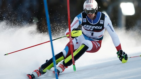 <p>               Switzerland's Ramon Zenhaeusern competes during an alpine ski, men's World Cup slalom in Zagreb, Croatia, Sunday, Jan. 5, 2020. (AP Photo/Gabriele Facciotti)             </p>