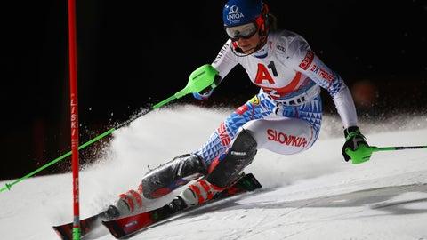 <p>               Slovakia's Petra Vlhova competes during an alpine ski, women's World Cup slalom in Flachau, Austria, Tuesday, Jan. 14, 2020. (AP Photo/Marco Trovati)             </p>