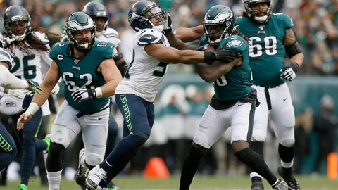 <p>               FILE - In this Nov. 24, 2019, file photo, Philadelphia Eagles' Jay Ajayi (28) tries to break free from Seattle Seahawks' Bobby Wagner during the second half of an NFL football game in Philadelphia. Wagner was named to The Associated Press' All-Pro Team for the fifth time. (AP Photo/Michael Perez, File)             </p>