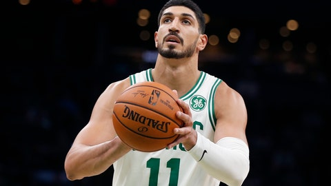 <p>               FILE - In this Sunday, Oct. 6, 2019 file photo, Boston Celtics' Enes Kanter plays against the Charlotte Hornets during the first half of a preseason NBA basketball game in Boston. Former Oklahoma City Thunder player Enes Kanter plans to open a charter school in the city. Kanter, who now plays for the Boston Celtics, has told Oklahoma City Public Schools of his plan to open the Enes Kanter School for Exceptional Learning. (AP Photo/Michael Dwyer)             </p>