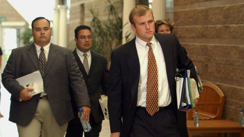 <p>               FILE - In this Oct. 9, 2003, file photo, District Attorney Mark Hurlbert, right,  Eagle County Sheriff's Detective Doug Winters, left, and Deputy District Attorney Gregg Crittenden rear, members of the team prosecuting Los Angeles Lakers star Kobe Bryant on sexual assault charges, enter the court for a preliminary hearing  at the Justice Center in Eagle, Colo. Hurlbert said in an interview with The Associated Press he is shocked and saddened by the senseless deaths of Bryant, his daughter Gianna and seven others this week. But he remains confident he would have won a conviction against Bryant in 2003-2004, had the woman who accused Bryant not decided to end the criminal case during jury selection. (AP Photo/Ed Andrieski, Pool, File)             </p>