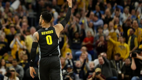 <p>               Marquette's Markus Howard reacts after making a 3-pointer during the first half of an NCAA college basketball game against Villanova Saturday, Jan. 4, 2020, in Milwaukee. (AP Photo/Aaron Gash)             </p>
