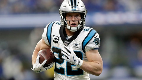 <p>               FILE - In this Dec. 22, 2019, file photo, Carolina Panthers' Christian McCaffrey runs during the second half of an NFL football game against the Indianapolis Colts, in Indianapolis. McCaffrey's versatility and superb statistics helped him to a rare double: The Carolina Panthers running back has made The Associated Press NFL All-Pro Team at two positions. (AP Photo/Michael Conroy, File)             </p>