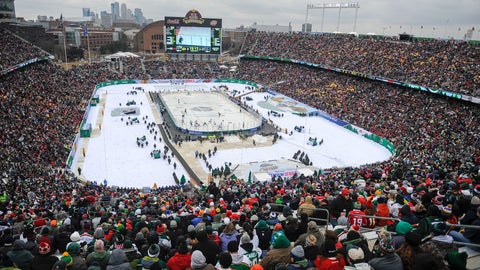 <p>               FILE - In this Feb. 21, 2016, file photo, more than 50,000 fans watch the Minnesota Wild play the Chicago Blackhawks at TCF Bank Stadium during the NHL Stadium Series hockey game, in Minneapolis. The Minnesota Wild, after years of lobbying the league, will finally host the NHL's signature regular season event next year. The 2021 Winter Classic will coincide with the franchise's 20th anniversary season. (AP Photo/Craig Lassig, File)             </p>