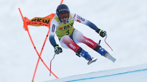 <p>               France's Victor Muffat Jeandet competes during the first run of an alpine ski, men's World Cup combined in Wengen, Switzerland, Friday, Jan. 17, 2020. (AP Photo/Gabriele Facciotti)             </p>
