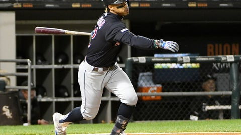 <p>               FILE - In this Sept. 26, 2019, file photo, Cleveland Indians' Francisco Lindor (12) bats against the Chicago White Sox during the second inning of a baseball game, in Chicago. Francisco Lindor's status with the Indians has been slightly upgraded. Team president Chris Antonetti said Wednesday, Jan. 8, 2020, that he's more confident that the All-Star shortstop will be in Cleveland's lineup to start the season after the Indians didn't receive a trade proposal over the past few weeks that made sense. (AP Photo/David Banks, File)             </p>
