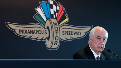 <p>               FILE - In this Monday, Nov. 4, 2019, file photo, Penske Corporation Chairman Roger Penske responds to a question during a press conference at Indianapolis Motor Speedway in Indianapolis. Penske completed his purchase of Indianapolis Motor Speedway on Monday, Jan. 6, 2020, becoming just the fourth owner of the historic facility and subsidiaries that include the IndyCar Series.  (AP Photo/AJ Mast, File)             </p>