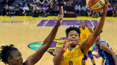 <p>               FILE - In this Sept. 1, 2017, file photo, Los Angeles Sparks guard Alana Beard, right, shoots as Atlanta Dream forward Aneika Henry-Morello defends during the first half of a WNBA basketball game in Los Angeles. Alana Beard, a two-time Defensive Player of the Year who won a WNBA championship with the Los Angeles Sparks, is retiring after 15 years. The Sparks announced her decision on Thursday, Jan. 23, 2020.(AP Photo/Mark J. Terrill, File)             </p>