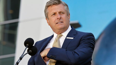 <p>               FILE - In this Sept. 3, 2019, file photo, Golden State Warriors COO and President Rick Welts is shown during the ribbon cutting ceremony of the Chase Center in San Francisco. Welts spent nearly two decades at the NBA working for David Stern. And to say the Golden State Warriors' president and chief operating officer will miss his former boss is putting it very lightly. (AP Photo/Eric Risberg, File)             </p>