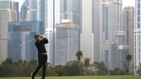 <p>               England's Eddie Pepperell follows his ball on the 13th fairway during the second round of the Dubai Desert Classic golf tournament in Dubai, United Arab Emirates, Friday, Jan. 24, 2020. (AP Photo/Kamran Jebreili)             </p>