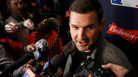 <p>               Washington Nationals first baseman Ryan Zimmerman speaks with members of the media as he arrives for the premiere of a documentary film on the team's first World Series baseball championship, Monday, Dec. 2, 2019, in Washington. (AP Photo/Patrick Semansky)             </p>