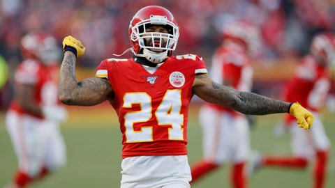 <p>               Kansas City Chiefs' Jordan Lucas reacts to a kick off stop during the second half of the NFL AFC Championship football game against the Tennessee Titans Sunday, Jan. 19, 2020, in Kansas City, MO. (AP Photo/Charlie Neibergall)             </p>