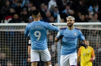 Aguero reaches 250 goal mark as City stumbles vs