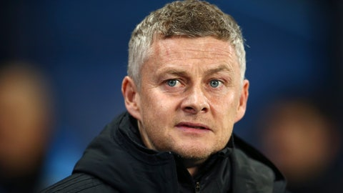 <p>               Manchester United's manager Ole Gunnar Solskjaer enters the field for the English League Cup semifinal second leg soccer match between Manchester City and Manchester United at Etihad stadium in Manchester, England, Wednesday, Jan. 29, 2020. (AP Photo/Dave Thompson)             </p>