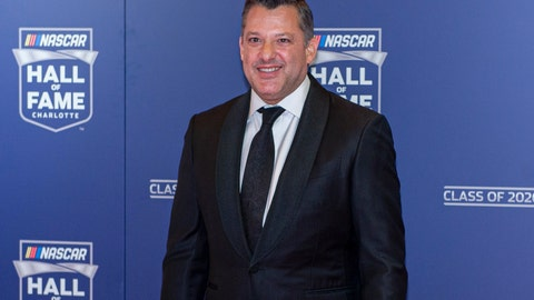 <p>               NASCAR Hall of Fame inductee Tony Stewart poses for pictures prior to the induction ceremony in Charlotte, N.C., Friday, Jan. 31, 2020. (AP Photo/Mike McCarn)             </p>